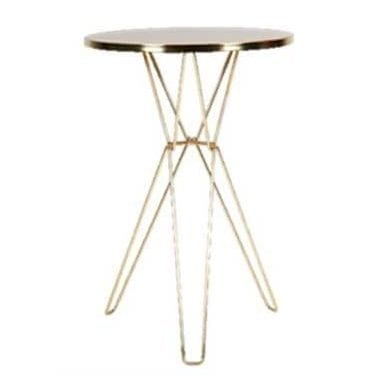 Gold Luxe Pin Bar Table Available for Sydney Hire