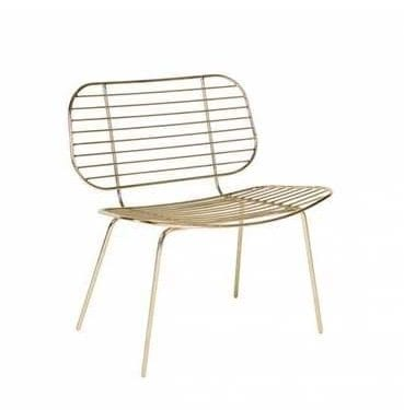 Luxe Gold Wired Chair available for Sydney hire.