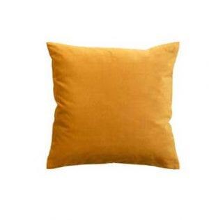 Velvet Turmeric Cushion available for hire in Sydney.