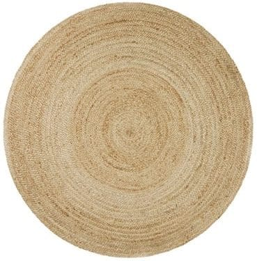 Handwoven Round Jute Rug available for Sydney hire.