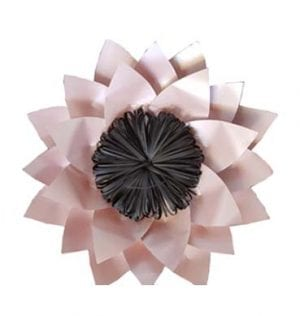 Pink and Black Paper Lotus Flower available for Sydney Hire