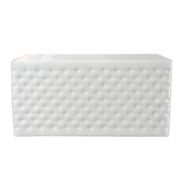 White Upholstered Front Panel bar available for Sydney hire