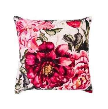 Velvet Rose Cushion available for Sydney hire