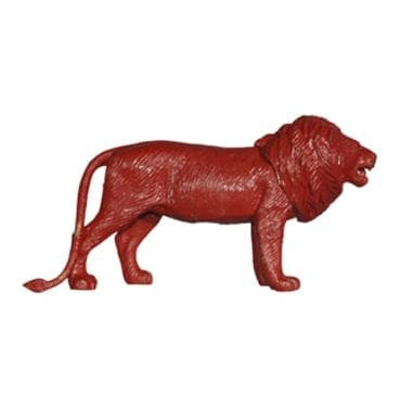 Red Painted Lion Available for Sydney Hire.