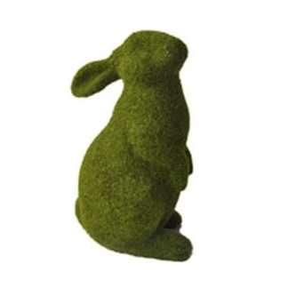 Green Flocked Rabbit Standing