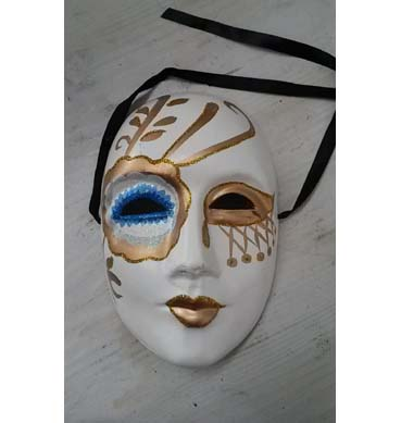 Masquerade Full Face Mask available for hire in Sydney