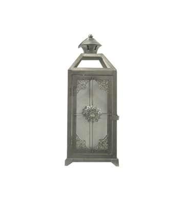 Moroccan Lanterns - Silver - Green Pearl