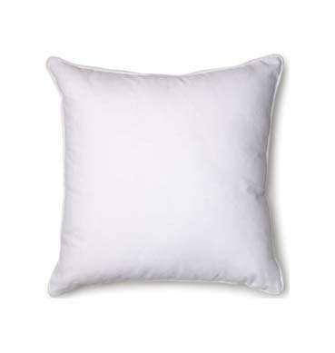 Plain White Cotton Cushion available for Sydney hire