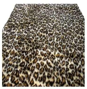 Leopard Print Faux Fur Rug for Sydney Hire.