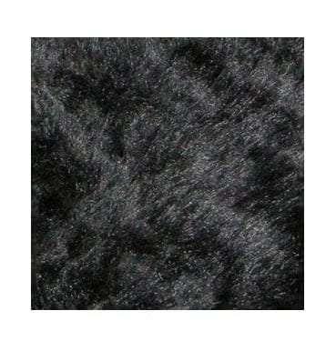 Short Black Faux Fur Rug available for Sydney hire.