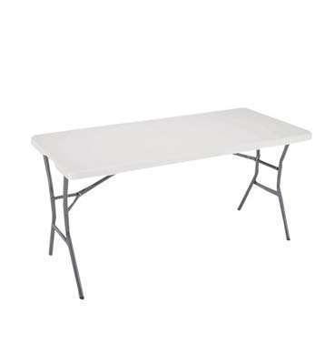 White Plastic Trestle Table