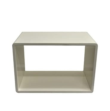 White rectangle coffee table small