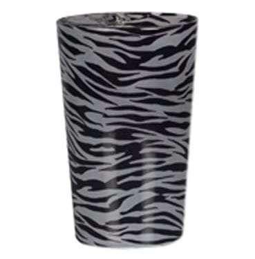 Zebra Print Glass Votive Available for Sydney hire.