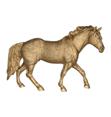 Gold Painted Horse Available for Hire in Sydney
