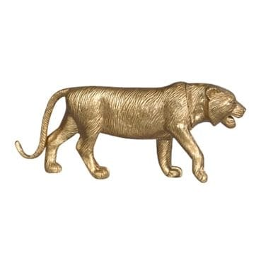 Gold Painted Lioness Available for Hire in Sydney, Australia