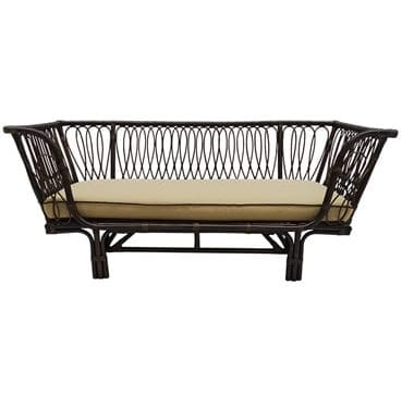 Dark Brown Daybed available for Sydney hire
