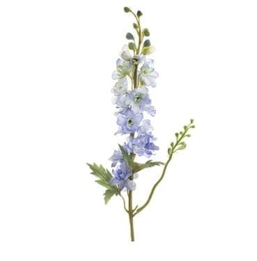 Artificial Light Blue and White delphinium spray now available for hire in Sydney