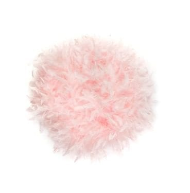 Pink Feathered Fifi cushion available for Sydney hire