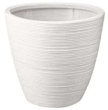 White Rattan Pot Decorative - available for Sydney hire.