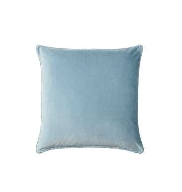 Steel Blue Velvet Cushion available for Sydney hire