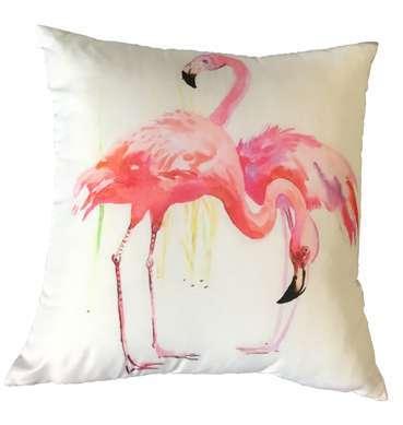 Cotton Flamingo Cushion available for Sydney hire