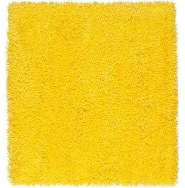 sunshine Yellow Shag Pile Rug available for Sydney hire