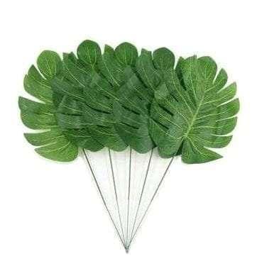 Artificial tropical monstera leaf