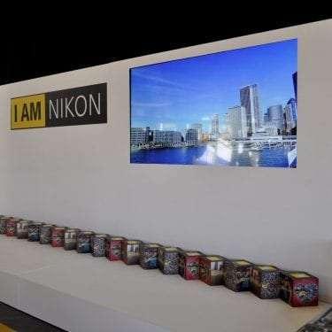 Nikon Example of Branding pop up