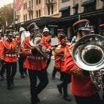 Marching Band in Sydney CBD.