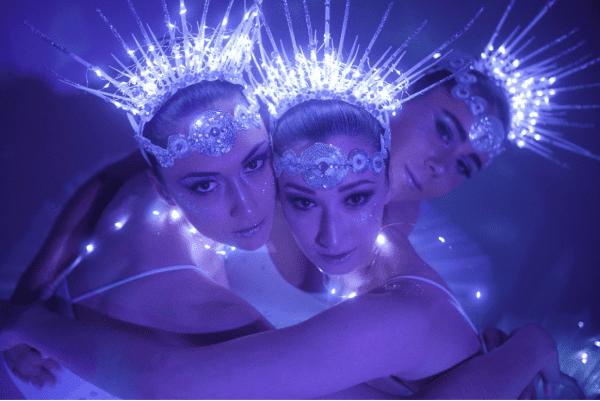 LED Ballerinas close up shot