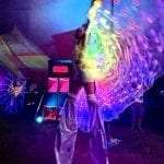 LED Butterfly with rainbow LED wings.