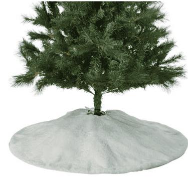 White Fur Christmas Tree Skirt