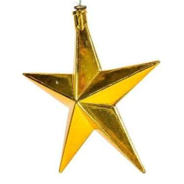 Christmas Star Gold and Mirrored available for Sydney hire.