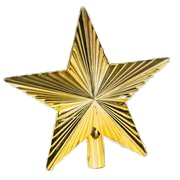 Gold Christmas Tree Star available for Sydney hire.