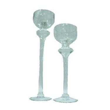 Glass Bell Vase Candle Stick available for Sydney hire.