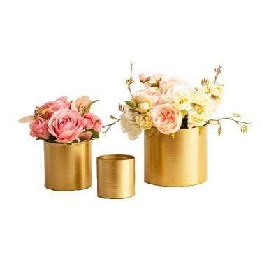 Brass Gold Pots available for hire in Sydney